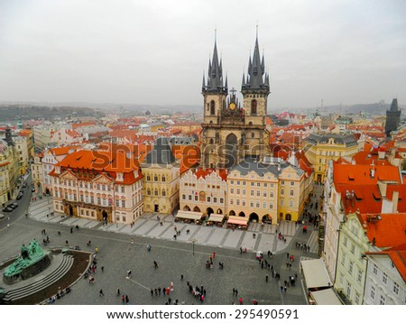 Cityscape of old prague, Prague, Czech Republic - stock photo