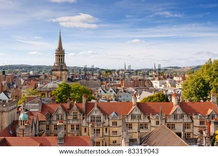 Cityscape of Oxford. England, Europe - stock photo