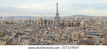 cityscape of Paris, France, top view - stock photo