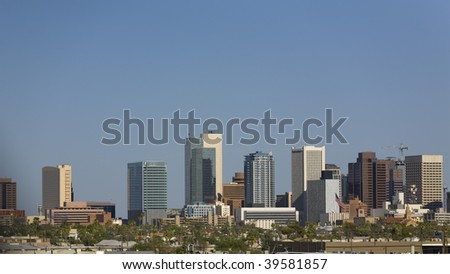 Cityscape of Phoenix Downtown, Arizona - stock photo
