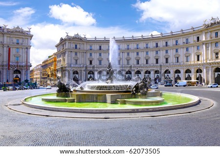 Cityscape of Rome, Italy - stock photo
