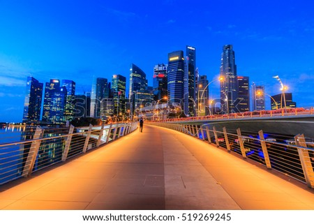 Cityscape of Singapore city