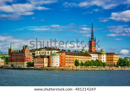 Cityscape of Stockholm (Sweden), HDR-technique