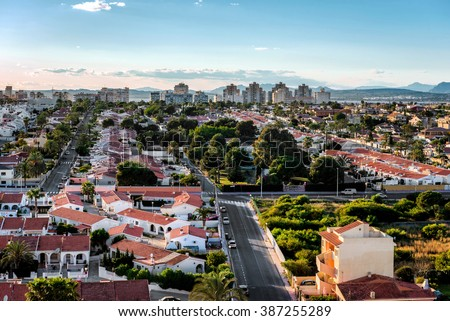 Cityscape of Torrevieja. Alicante province, Costa Blanca. Spain - stock photo