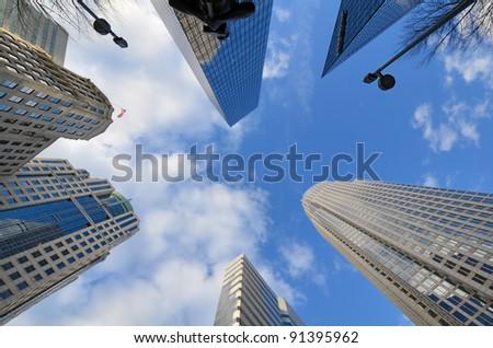 Cityscape of Uptown Charlotte, North Carolina. - stock photo