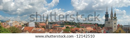 Cityscape of Zagreb, capitol of Croatia