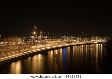 Cityscape out of Stockholm in Sweden - stock photo