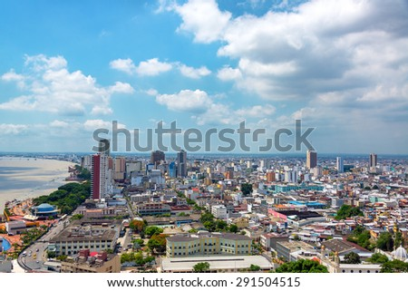 Cityscape view of Guayaquil, Ecuador - stock photo