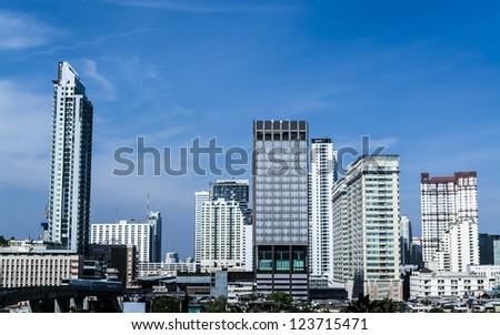 Cityscape view office buildings of Bangkok ,Thailand