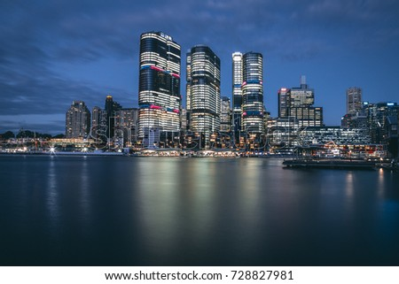 Cityscape with Water Reflection