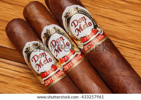 Ciudad de Mexico, Mexico - August 1, 2015: Honduran cigars are widely considered some of the finest handmade cigars in the world although they are extremely underrated.