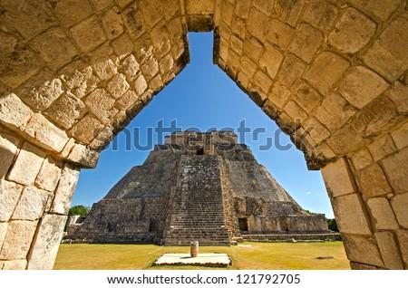 Ciudad Prehispanica de Uxmal - stock photo