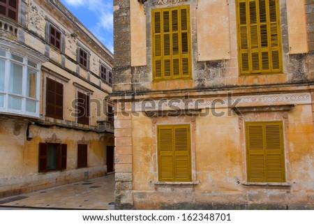 Ciutadella Menorca historic downtown in Ciudadela at Balearic islands