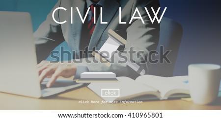 Civil Law Court Judge Justice Legal Fairness Gavel Concept - stock photo
