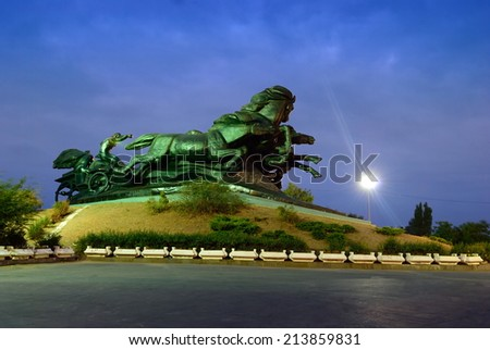Civil War Monument, established in Rostov-on-Don. Russia - stock photo