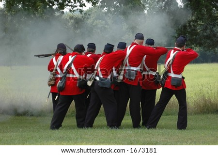 Civil War Soldiers - stock photo