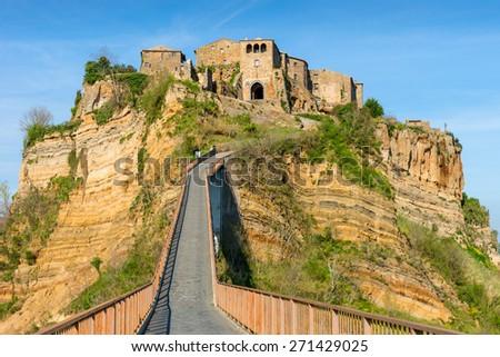 Civita di Bagnoregio Tuscany Italy Landscape - stock photo