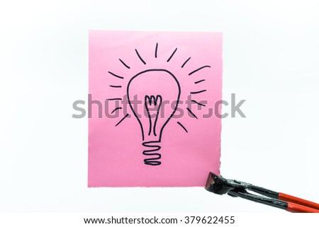 clamp idea - stock photo