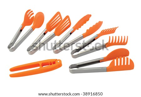 clamp on white background - stock photo
