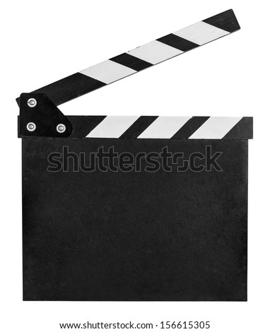 clap board isolated on white with clipping path included - stock photo