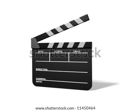 Clap Board (Slate) - stock photo