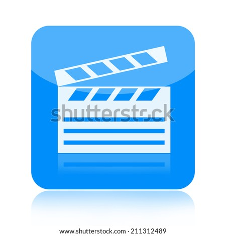 Clapper board icon - stock photo
