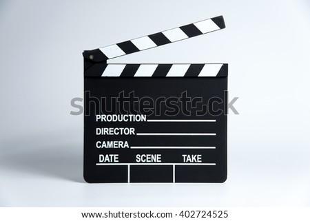 Clapper board,Movie clapper - stock photo