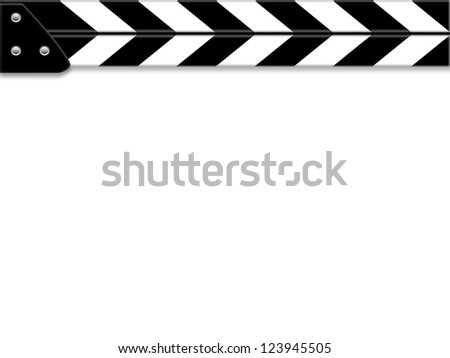 Clapper board or slate white board - stock photo