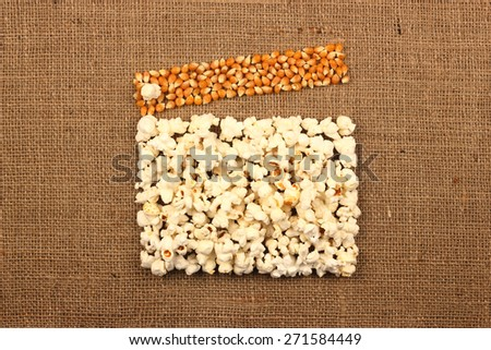 clapperboard popcorn - stock photo