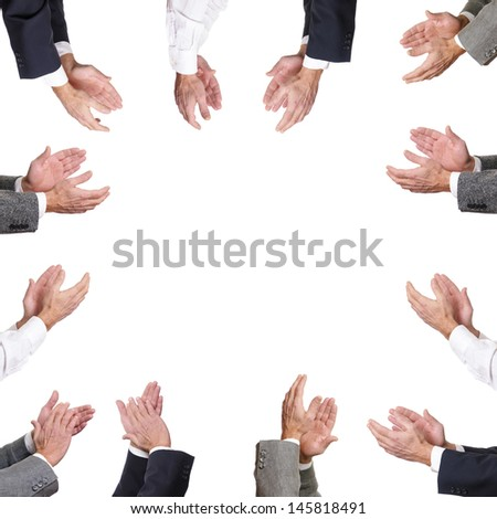 Clapping - stock photo