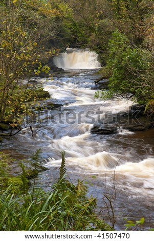 Clare Glens and Clare River form the border between county Limerick and Tipperary, Republic Of Ireland
