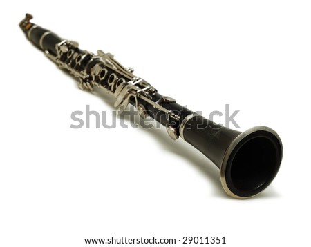 clarinet isolated - stock photo