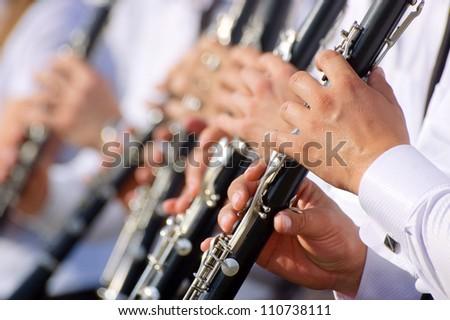 Clarinet theme - stock photo