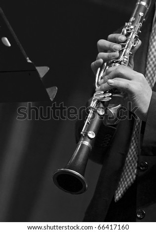 Clarinetist on chamber music concert