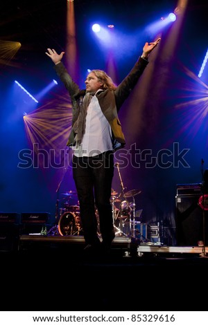 CLARK, NJ - SEPT 16: Lead singer Ed Roland of the band Collective Soul performs at the Union County Music Fest on September 16, 2011 in Clark, NJ.