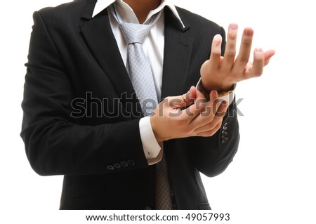 clasp a cuff - stock photo