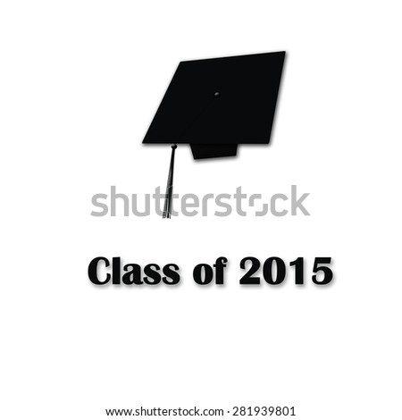 Class of 2015 Black on White Large Single