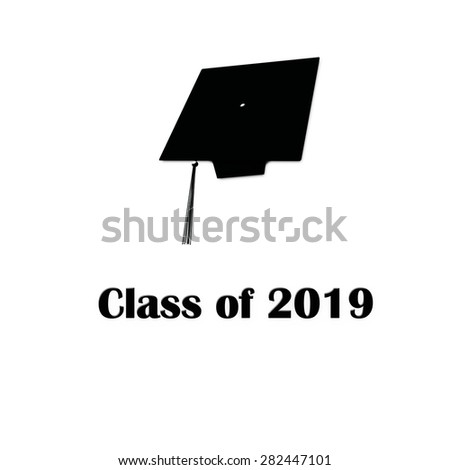 Class of 2019 Black on White Single Large