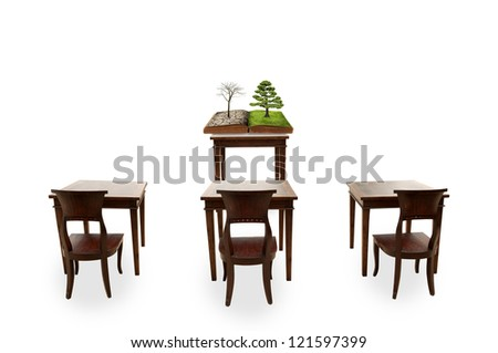 Class room - stock photo