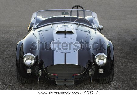 Classic AC Shelby Cobra vintage muscle car - stock photo