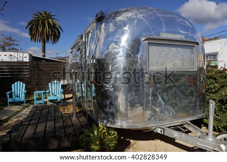 Airstream stock images royalty free images vectors for Airstream rentals santa barbara