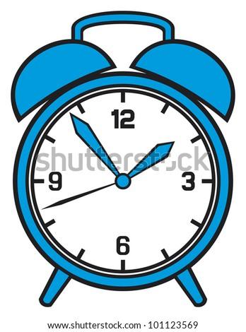 Classic alarm clock - stock photo
