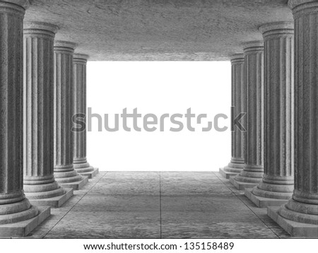 Classic Ancient Building Interior with place for Your text - stock photo
