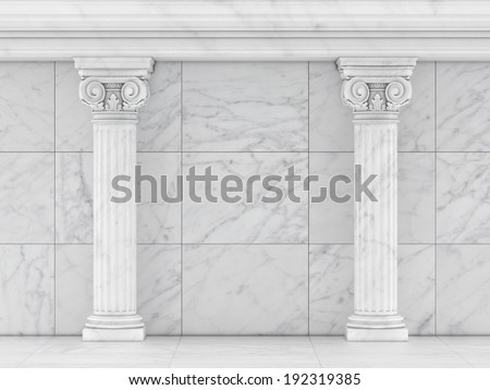 Classic Ancient Columns, Concept Interior Part  - stock photo