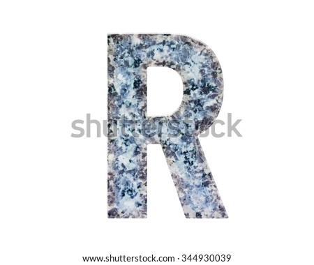 CLASSIC and beautiful  FONT or LETTER and colour design of ALPHABET R in natural marble texture style