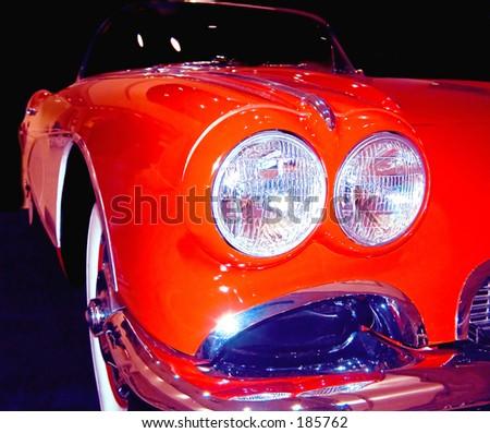 Classic antique sportscar - stock photo
