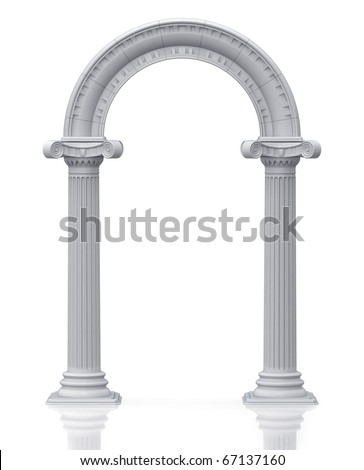 Classic arch (3d render) - stock photo