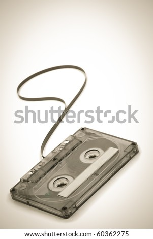 Classic audio Cassette  in sepia.