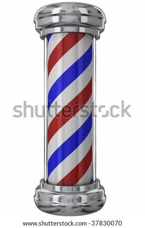 Classic Barber Pole - stock photo
