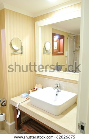 Classic bathroom in a hotel - series of HOTEL images.